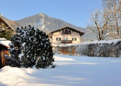 Winterblick in den Garten