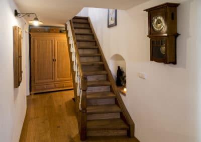 Die restaurierte Treppe